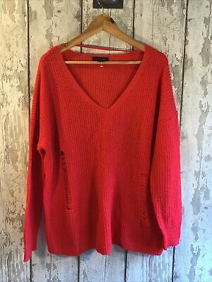 Atmosphere Red Soft Knit Slouchy Jumper Size 14-16 BNWOT • 8.99£