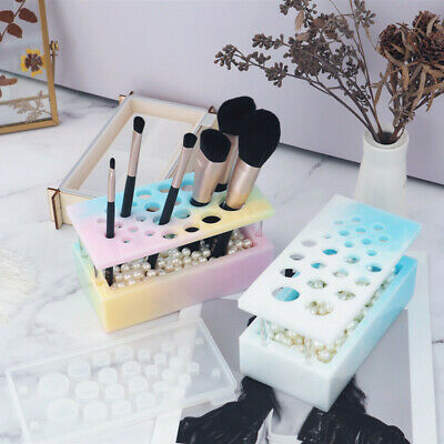 £9.59 • Buy Silicone Makeup Brush Holder Display Pen Stand Casting Mold Resin Epoxy Mould