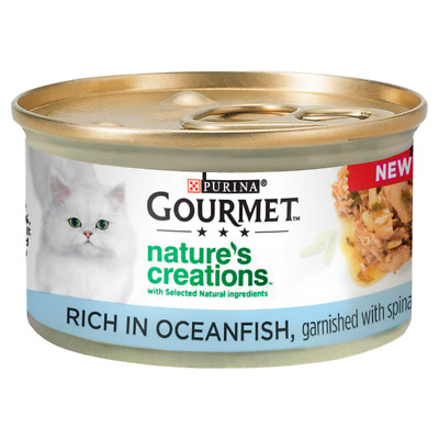 Gourmet Nature's Creations Fish Wet Cat Food Cans - 12 X 85g • 12.01£
