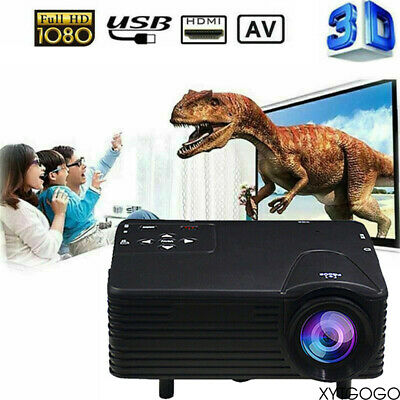 Mini LED HD 1080P 7000 Lumens Projector Home Theater Cinema Video USB HDMI AV UK • 33.50£