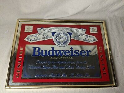 $ CDN74.70 • Buy Vintage Mirrored Beer Sign Perfect For Bar Budweiser