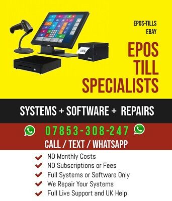 EPOS TILL POS Touch Screen Systems+ SOFTWARE PIZZA COFFEE BAR SHOP CHINESE SALON • 199£