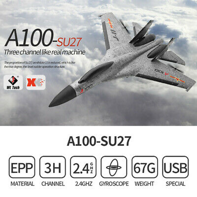 WLtoys A100 J-11 Fighter 2.4G 3CH RC RTF Airplane Aircraft Fixed Wing Plane.NEW • 45.99£