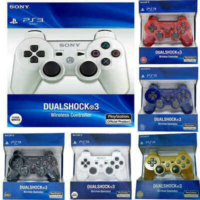 6Color Sony PlayStation 3 PS3 Dualshock Sixaxis Wireless Controller Gamepad • 10.99£