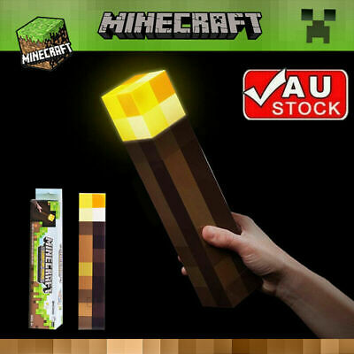 AU26 • Buy Mine Craft Light Up Mountable Wall Night Torch Lamp Kids Fun Toy Gamer Gift LED
