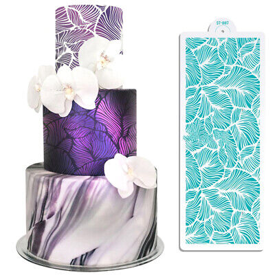 Peacock Lace Stencil Wedding Cake Design Plastic Template Mold Painting Ste~JMFS • 4.72£