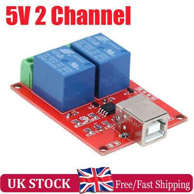 £6.03 • Buy 5V USB Relay 2 Channel Programmable Computer Control Relay For Smart Home UK