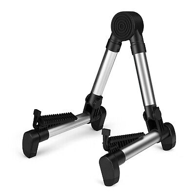 $ CDN25.39 • Buy Guitar Floor Stand Folding Adjustable For Acoustic Portable Lightweight Silver