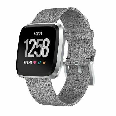 $ CDN8.23 • Buy Woven Fabric Replacement Wristband Strap Watch Band For Fitbit Versa 2/1 Gray