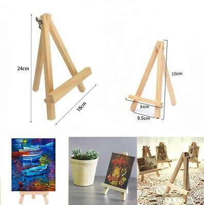 15/24cm Small Wooden Easel Stand Table Desktop Wedding Party Photo Card Display • 6.24£