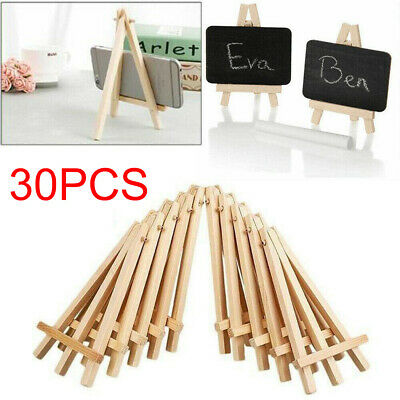 30X Mini Wooden Easel Table Wedding Picture Name Card Holder Display Small Stand • 20.41£