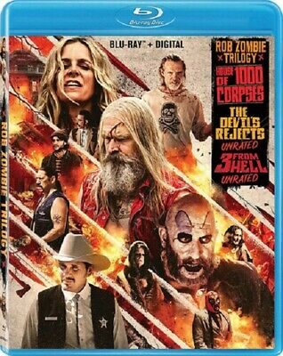 AU39.95 • Buy Rob Zombie Trilogy 3 From Hell House Of 1000 Corpses Devil's Rejects New Blu-ray