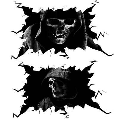 Halloween 3D Skull Car Sticker Horror Grim Reaper Decals Home Wall Window Decor • 4.46£