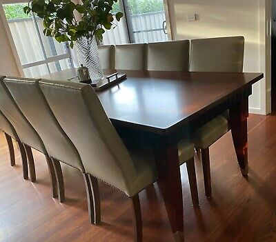 AU400 • Buy Leather Dining Chairs, Beige, Wooden Legs (x4)
