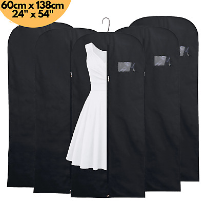 £4.99 • Buy 5x Breathable 54  Suit Cover Clothes Travel Zipped Dress Garment Storage Bags