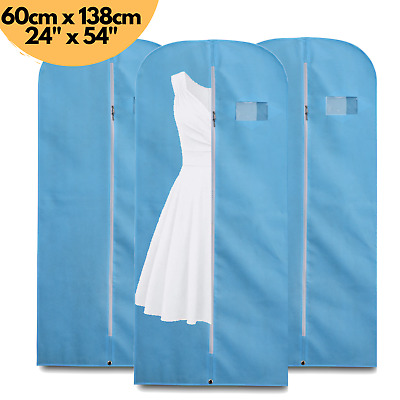 £4.99 • Buy 3x Breathable 54  Suit Cover Clothes Travel Zipped Dress Garment Storage Bags