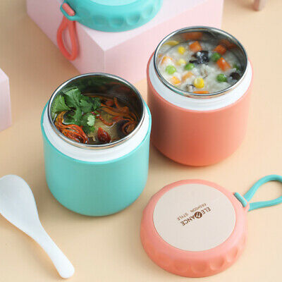 AU20.58 • Buy Insulated Lunch Box Portable Stainless Steel Soup Food Thermos Container