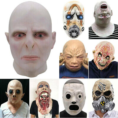£16.09 • Buy Halloween Cosplay Horror Face Head Mask Alien Zombie Crying Baby Costume Props