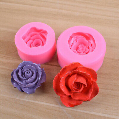 Candle Soap 3D Silicone Fondant DIY Mould Tool Cake Mold Rose Flower Shape RDMFS • 5.76£