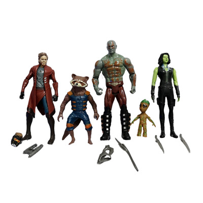 5PCS Guardians Of The Galaxy Star-Lord Rocket Racoon Groot Toys Action Figure • 11.95£