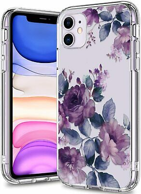 AU32.07 • Buy BICOL IPhone 11 Case Clear With Design For Girls Purple Blossoms/Clear