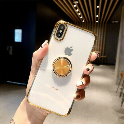 AU4.39 • Buy Magnetic TPU Rubber Case Cover With Ring Stand Holder For IPhone XR XS MAX X 7 8