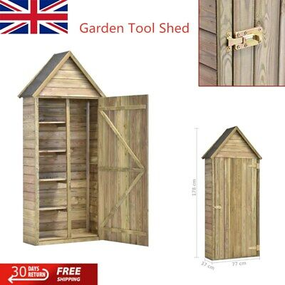 Wooden Garden Tool Shed Garden House With Door Organizer Outdoor Storage Shop • 181.61£