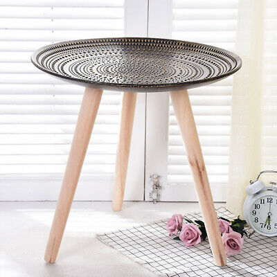 AU46.99 • Buy Stunning Round Side Table Gold Boho Home Decor Furniture, Small Coffee Table New
