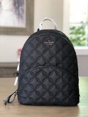 $ CDN168.53 • Buy Kate Spade Nylon Quilted Large Backpack Karissa Black Brand New With Tags
