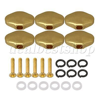 $ CDN14.07 • Buy Guitar Tuning Pegs Knobs Flower Type Tuner Button Caps Gold Set Of 6