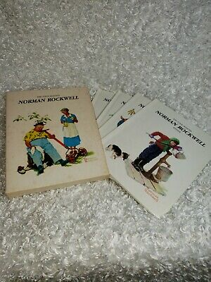 $ CDN18.74 • Buy Vintage Norman Rockwell The Four Seasons Gallery Books Set Of 4 With Box