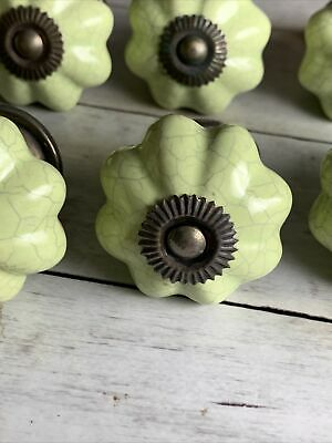 Green Cracked China Cabinet Knobs • 2.50£