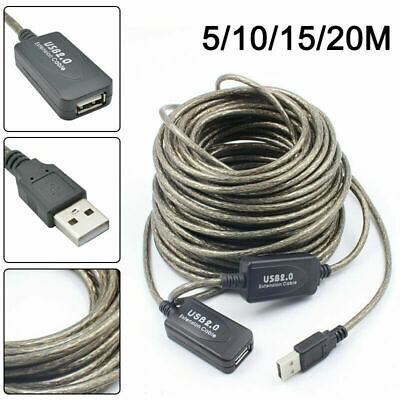 AU23.81 • Buy New Ofc 5m/10m/15m/20m Usb Active Repeater Extension Extender Cable Lead Usb2.0
