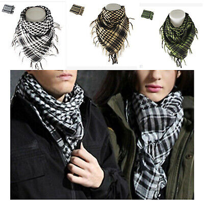 $5.99 • Buy New Cotton Shemagh Head Neck Scarf Arab Military Keffiyeh Tactical Desert Wrap