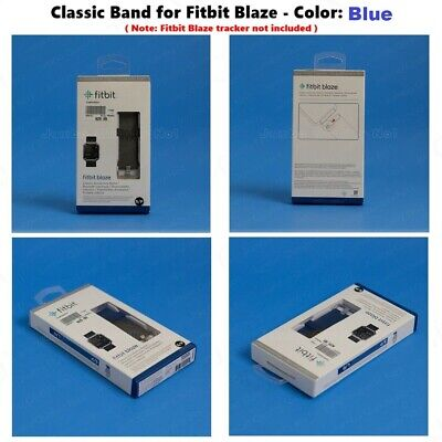 $ CDN31.14 • Buy Genuine Fitbit BLAZE Blue Navy Classic Accessory Replacement Band S / L + Frame