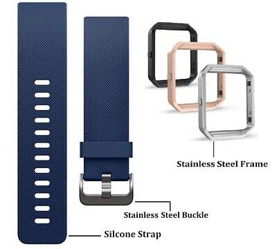 $ CDN17.35 • Buy Fitbit BLAZE Blue Navy Classic Accessory Replacement Band S / L + Frame