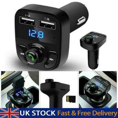 Wireless Bluetooth Car Kit FM Transmitter MP3 Player USB Charger UK • 5.19£