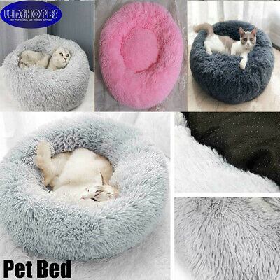 S-XL Pet Dog Cat Calming Nest Mattress Beds Comfy Shag Warm Fluffy Bed Donut Pad • 17.99£