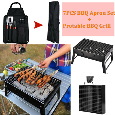 Barbecue BBQ Outdoor Charcoal Smoker Portable Grill Garden Barrel Drum Large UK • 83.99£