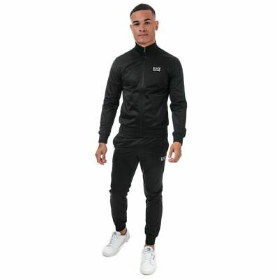 Men's Emporio Armani EA7 Core ID Poly Full Zip Jacket Tracksuit In Black • 109.99£