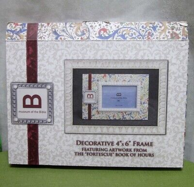 FORTESCUE BOOK OF HOURS Museum Bible Artwork 4 X 6 Decorative Picture Frame NWT • 36.38£