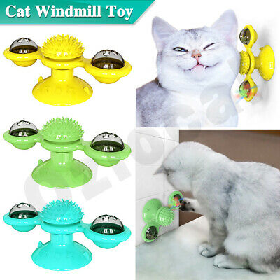AU8.89 • Buy Cat Windmill Toy Kitty Turntable Interactive Scratch Hair Tickle Brush Turing