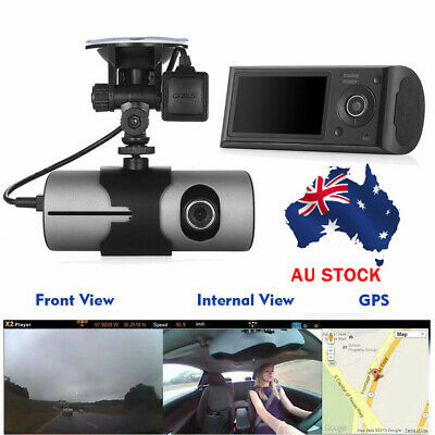 AU58.99 • Buy AU Car Dash Cam G-Sensor GPS Camera Night Vision HD Dual Lens Video Recorder DVR