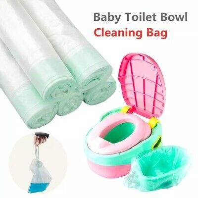 50Pack Disposable Travel Potty Liners Portable Training Toilet Seat Bin Bags UK • 5.98£