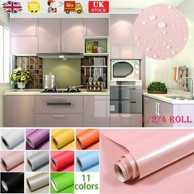 Self Adhesive Liner Wall Sticker Furniture Cover Cupboard Door Drawer Paper UK • 7.55£