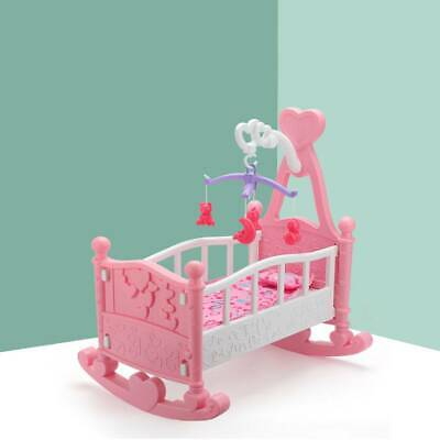 £15.99 • Buy Pink Toy Creative Baby Gifts Dolls Rocking Cradle Bed With Blanket & Pillow