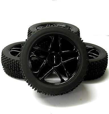180082 1/8 Scale Off Road Buggy RC Star Wheels And Tyres Black X 4 • 20.99£