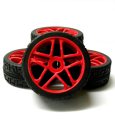 180091 1/8 Scale On Road Buggy RC Red Star Wheels And Tyres X 4 • 20.99£