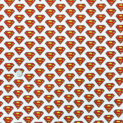 100% Cotton Digital Fabric Superman Badge Superhero Logo DC Comics 150cm Wide • 7.75£