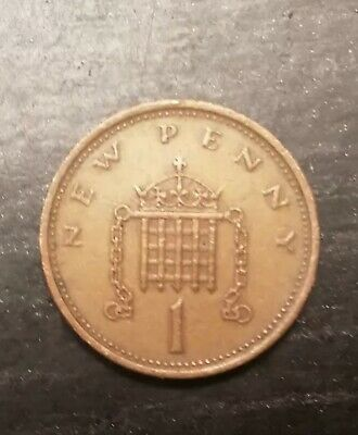 RARE COIN  ITEM Extremely Rare 1P NEW PENCE  DATED '1974' • 600£